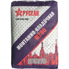Монтажно-кладочная смесь РУСЕАН М200 40 кг