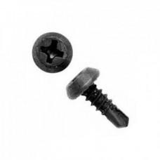 Саморез клоп со сверлом черный 3.5x11 мм